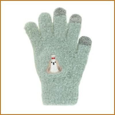 スマホ手袋 シーズー 17318631039 ▼小型犬ワンコのもふもふスマホ手袋