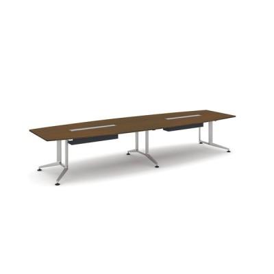 コクヨ品番 WT-WB315W05 会議テーブル WT300 ボート形突板天板配線付 塗装脚 W4000xD1200xH720 WT−300