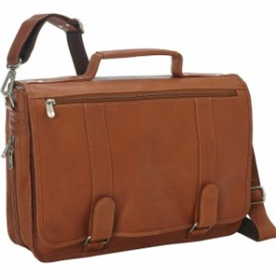 Piel  旅行用品 キャリーバッグ Piel Double Loop Leather Expandable Laptop Briefcase - Non-Wheeled Business Case
