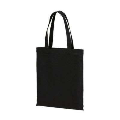 トートバッグ Mサイズ マチなし フラット キャンバス 無地 トート バッグ エコバッグ シンプル ブラック 黒 黒色