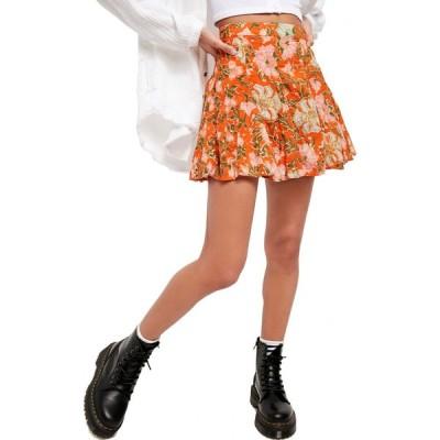 フリーピープル FREE PEOPLE レディース ミニスカート スカート End of the Island Godet Miniskirt Nouveua Chestnut Combo