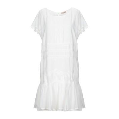 SCEE by TWINSET ミニワンピース&ドレス ホワイト L 56% コットン 44% レーヨン ミニワンピース&ドレス