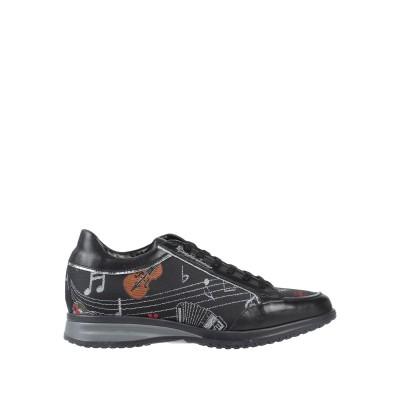 ブラッチャリーニ BRACCIALINI スニーカー&テニスシューズ(ローカット) ブラック 36 革 / 紡績繊維 スニーカー&テニスシューズ(ロ