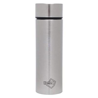 POKETLE ポケトル ボトル ステンレス製マグボトル ミニボトル スリムボトル 水筒 120mL (シルバー)