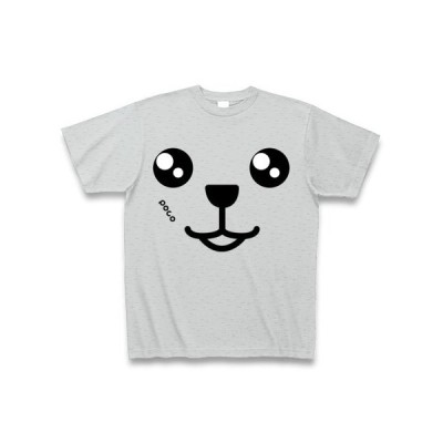 dogface7 Tシャツ Pure Color Print(グレー)