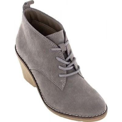 ホワイトマウンテン White Mountain レディース ブーツ ウェッジソール シューズ・靴 Lambert Wedge Bootie Dark Taupe Suede