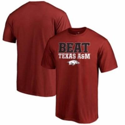 Fanatics Branded ファナティクス ブランド スポーツ用品  Fanatics Branded Arkansas Razorbacks Cardinal Beat Rival T-Shirt