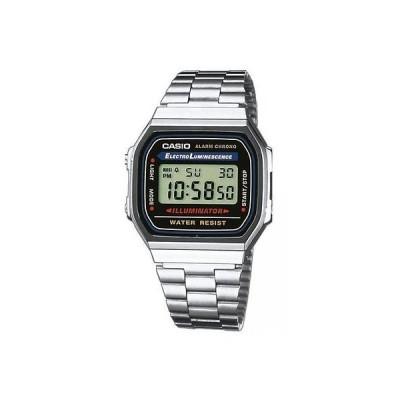 腕時計 カシオ Casio 7 Year Battery Chronograph Silvertone Watch, Alarm, Day/Date, A168W-1