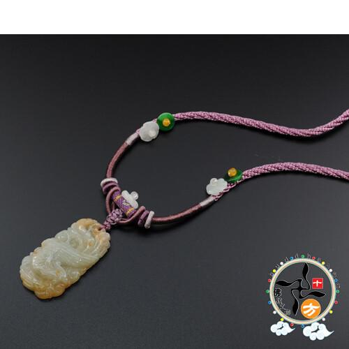 鳳凰玉中國結項鍊 十方佛教文物