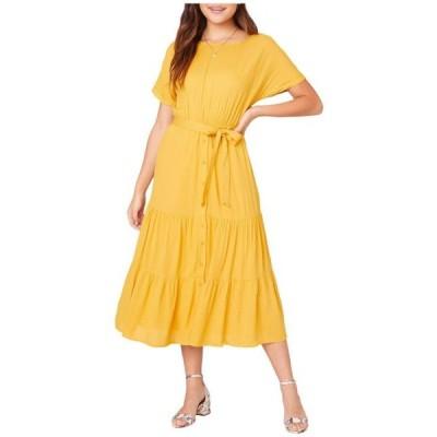 ビービーダコタ ユニセックス スカート ドレス Sundown Crinkled Rayon Midi Dress