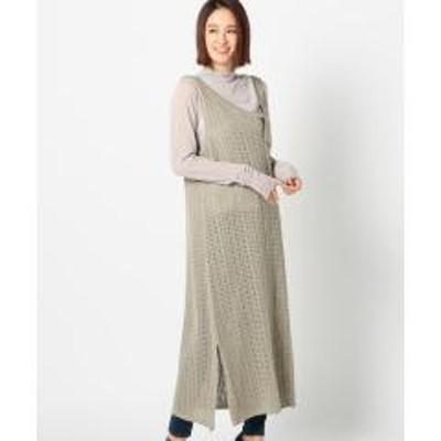 UNRELISHシアーアシメニットジャンパースカート【お取り寄せ商品】