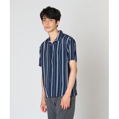 tk.TAKEO KIKUCHI / ストライプ半袖開襟シャツ MEN トップス > シャツ/ブラウス