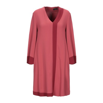 ANTONELLI ミニワンピース&ドレス レンガ 42 レーヨン 70% / アセテート 26% / ポリウレタン 4% ミニワンピース&ドレス