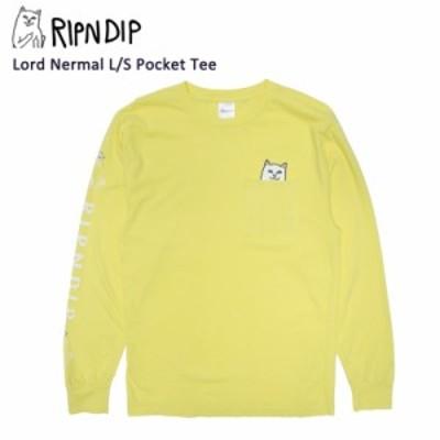 リップンディップ(RIPNDIP) Lord Nermal L/S Pocket Tee 《Banana》 メンズ 長袖 Tシャツ/ロンT【20】 [AA]