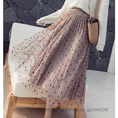 スカート マキシ丈スカート レディースファッション 着痩せ 夏服 3色 20代 30代 40代 可愛い 百褶