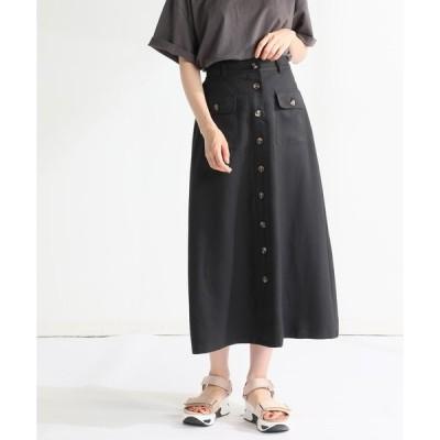 スカート 釦使いスカート