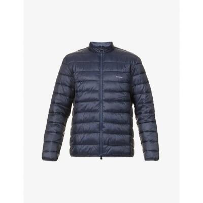 バブアー BARBOUR メンズ ダウン・中綿ジャケット シェルジャケット アウター Penton logo-print shell jacket NAVY
