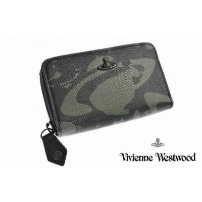 ヴィヴィアン ウエストウッド コイン キーケース メンズ Vivienne Westwood ラウンドファスナー 箱付 ウォーター ORB カーキ