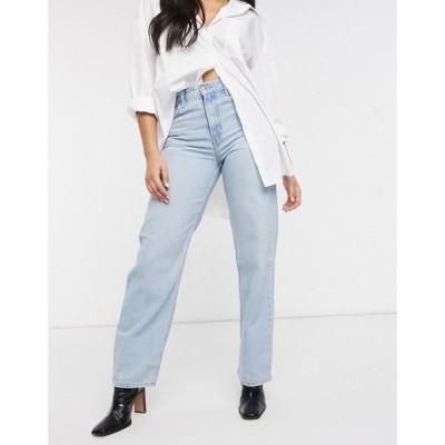 リーバイス Levi's レディース ジーンズ・デニム ボトムス・パンツ Loose Straight Jean With Rip In Lightwash Blue