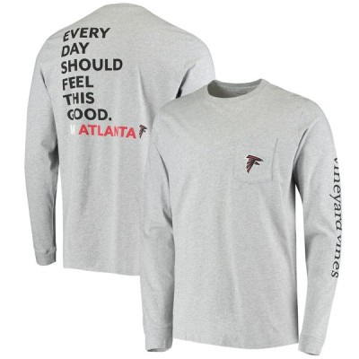 アトランタ・ファルコンズ Vineyard Vines Every Day Should Feel This Good Long Sleeve T-シャツ - Heathered Gray