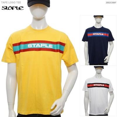 STAPLE Tシャツ ステイプル 半袖Tシャツ TAPE LOGO TEE