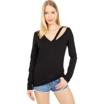 フィランソロピー n:philanthropy レディース トップス Vネック Vicki V-Neck Long Sleeve Shirt Black Cat