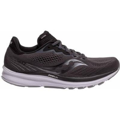 サッカニー メンズ スニーカー シューズ Saucony Men's Ride 14 Running Shoes Black/Grey