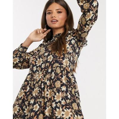 ウエアハウス レディース ワンピース トップス Warehouse floral print mini dress in natural