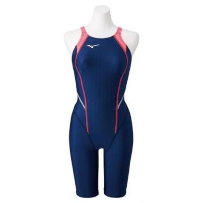ミズノ 競泳用MX・SONIC α ハーフスーツ(レースオープンバック)[ジュニア] 14ネイビー 130 スイム 競泳水着 STREAM ACE N2MG0420