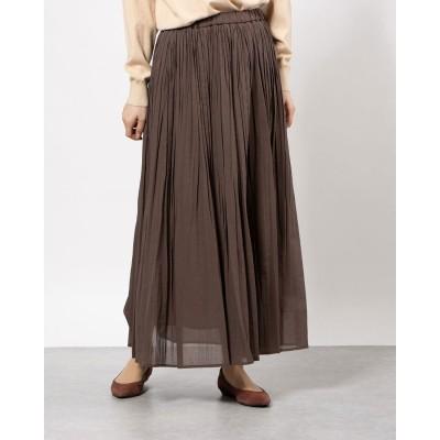 hand pleats skirt (ブラウン)