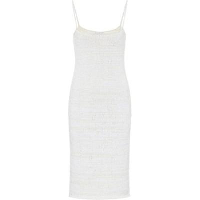 ボッテガ ヴェネタ Bottega Veneta レディース パーティードレス スリップドレス ワンピース・ドレス Cotton-blend knit slip dress Chalk