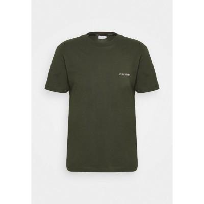 カルバンクライン Tシャツ メンズ トップス CHEST LOGO - Basic T-shirt - dark olive