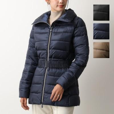 SAVE THE DUCK セイブザダック D3953W IRISY アイリッシュ カラー3色 エコダウン コート ジャケット ナイロン ベルト付き レディース