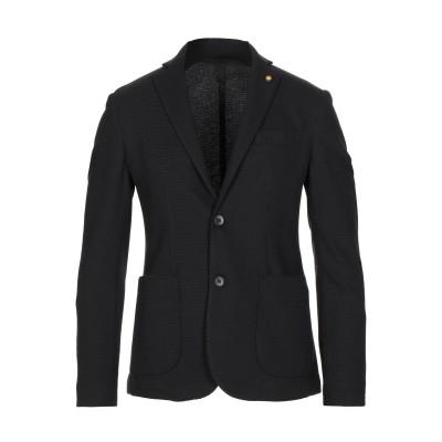 ROBERTO P  Luxury テーラードジャケット ブラック 46 レーヨン 60% / ポリエステル 38% / ポリウレタン 2% テーラ