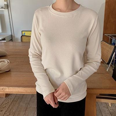 [COCOBLACK] 自社製作。クオリティの良い冬デイリー用起毛Tシャツ:)