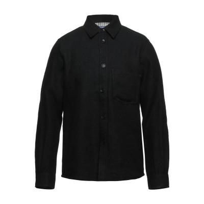ジュンヤ ワタナベ JUNYA WATANABE シャツ ブラック S ウール 52% / リネン 48% シャツ