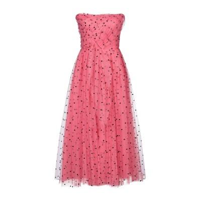 CAROLINA HERRERA 7分丈ワンピース・ドレス フューシャ 2 ナイロン 90% / レーヨン 10% 7分丈ワンピース・ドレス