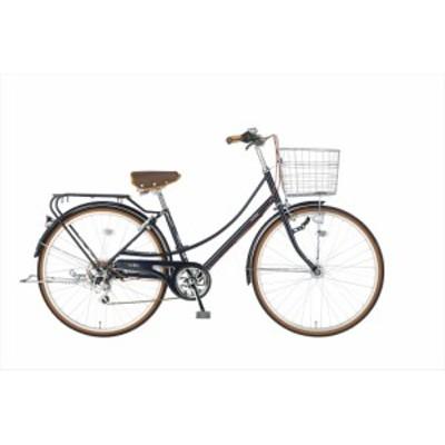 配送も店頭受取も可 自転車 イーストボーイ 26インチ シティサイクル ママチャリ 6段変速ギア ブルー CS266HD LEDオートライト EASTBOY B