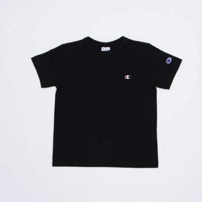 チャンピオン Champion ジュニア 半袖Tシャツ チャンピオンワンポイント半袖Tシャツ_ CK-T301 (ブラック)