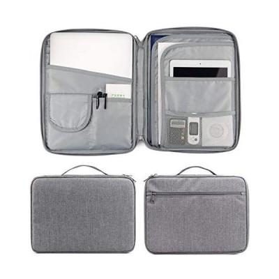 Baona 書類収納バッグ 耐火バッグ 難燃加工 防火ファスナー タブレット収納可能 パスポートファイル 財産収納ケース 集金袋 (旅行式-灰色)