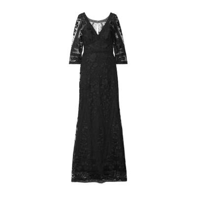 マルケッサ・ノッテ MARCHESA NOTTE ロングワンピース&ドレス ブラック 2 ナイロン 100% / ポリエステル ロングワンピース&ド
