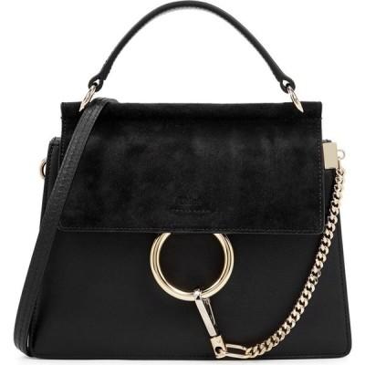 クロエ Chloe レディース ハンドバッグ バッグ faye small leather top handle bag Black