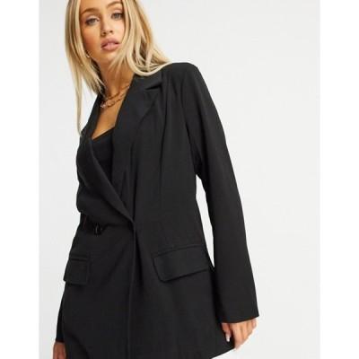 ミスガイデッド レディース ジャケット・ブルゾン アウター Missguided oversized blazer in black