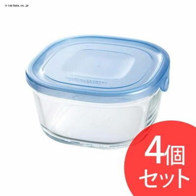 Iwaki NEWパック&レンジ 550ml(4個セット) アクアブルー KBT3240HBLN