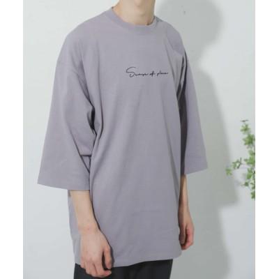 SENSE OF PLACE by URBAN RESEARCH / シシュウエクストラルーズTシャツ(5分袖) MEN トップス > Tシャツ/カットソー
