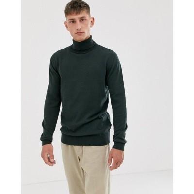 フレンチコネクション メンズ ニット、セーター アウター French Connection 100% cotton roll neck sweater Green