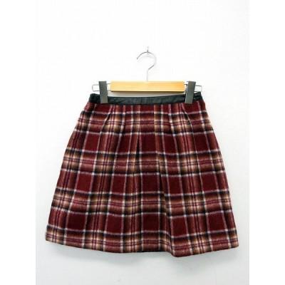 プロポーション ボディドレッシング PROPORTION BODY DRESSING スカート ボトムス フレア チェック ジップ ウール 1