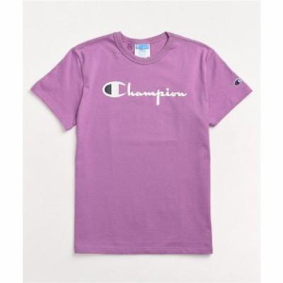チャンピオン CHAMPION レディース Tシャツ トップス Champion Heritage Lavender T-Shirt Purple