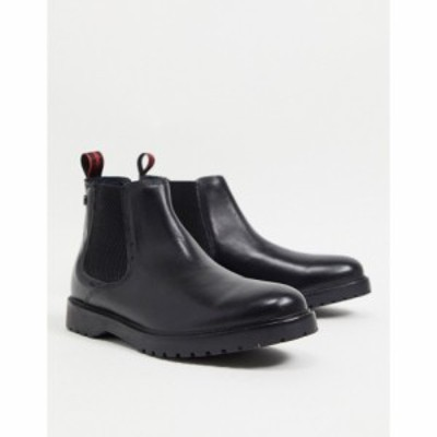 ベース ロンドン Base London メンズ ブーツ チェルシーブーツ シューズ・靴 Anvil Chelsea Boots In Black Leather ブラック