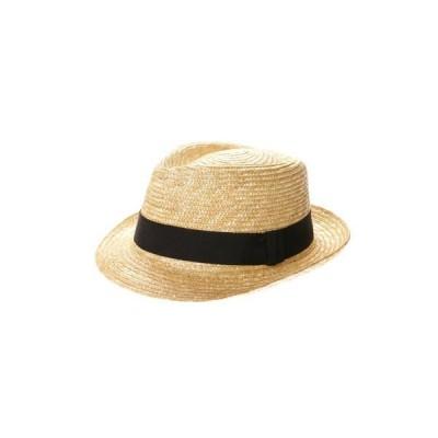 タナカ ハット 田中帽子店 Noah(ノア)麦わら中折れ帽子 (ナチュラル)